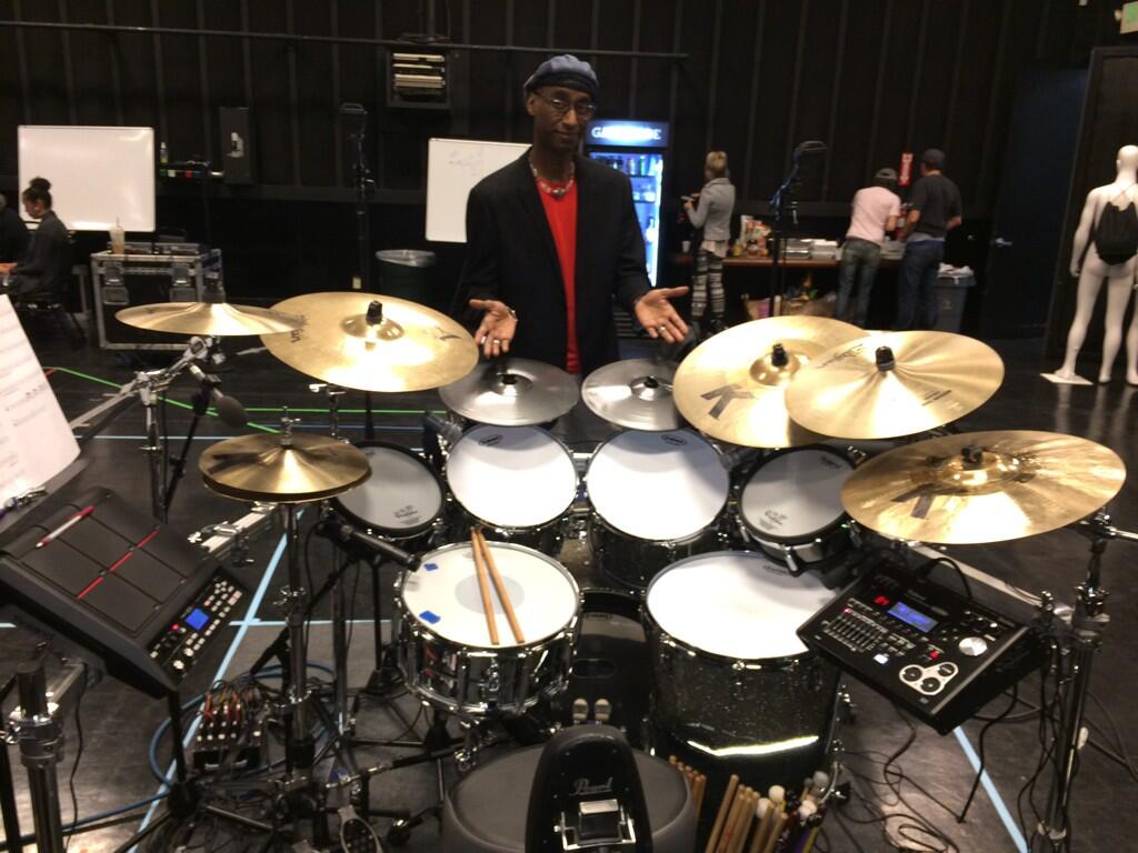 Omar Hakim's Hybrid Kit for his Daft Punk GRAMMY Gig