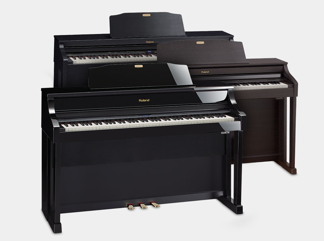 Roland HP508, HP506, and HP504 Digital Home Pianos