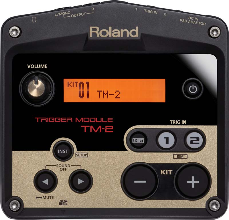 TM-2 hybrid drums module Top View