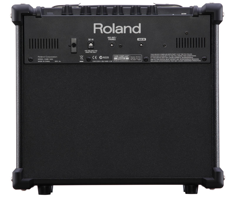 Roland CUBE-10GX Guitar Amplifier Rear Panel
