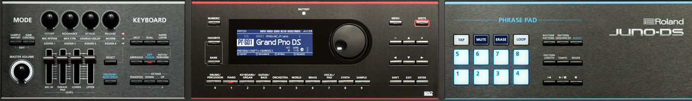 JUNO-DS88 and JUNO-DS61 Front Panel