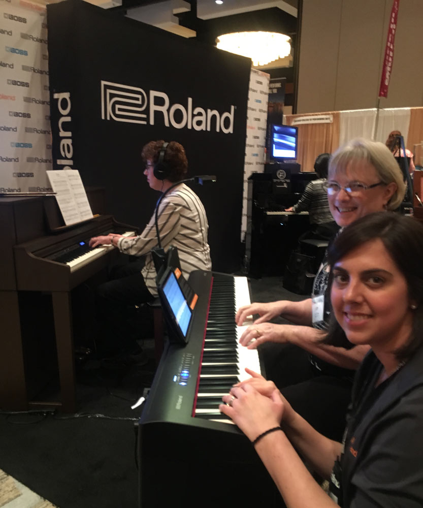 Roland piano booth at the 2016 MTNA National Conference