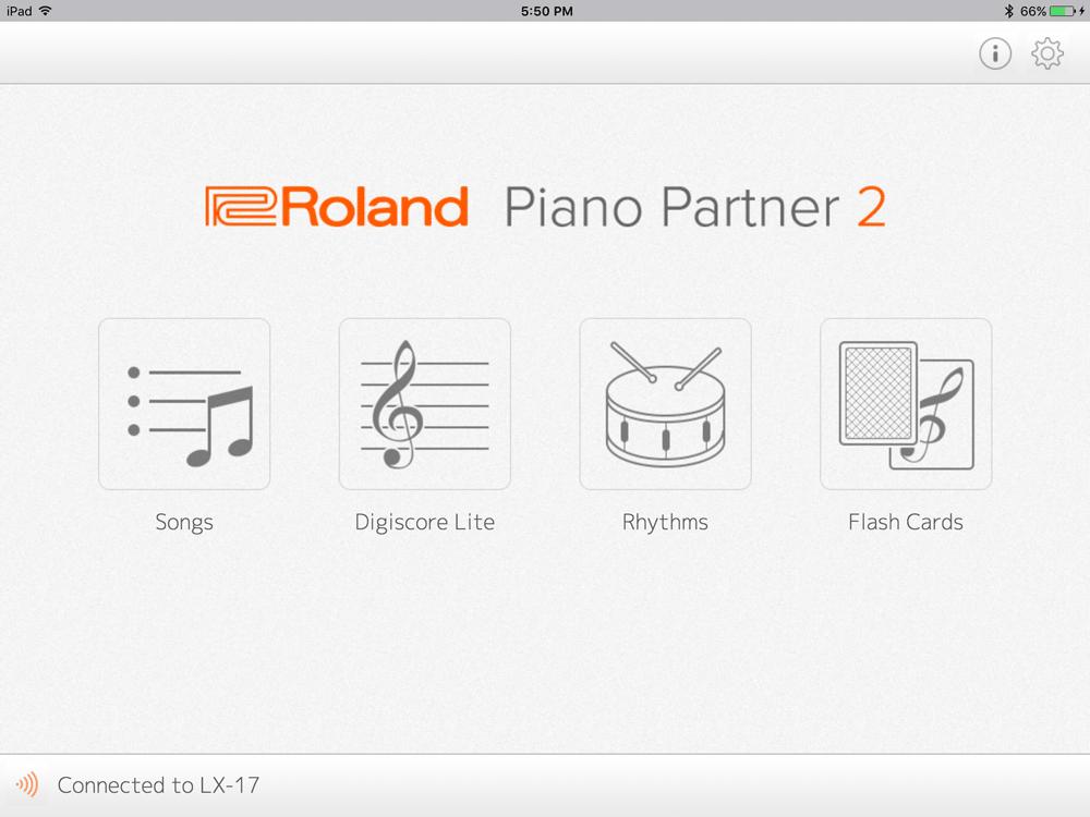 Piano app for Roland pianos