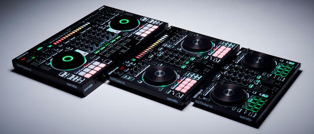 Roland DJ Controllers: DJ-808, DJ-505, and DJ-202.