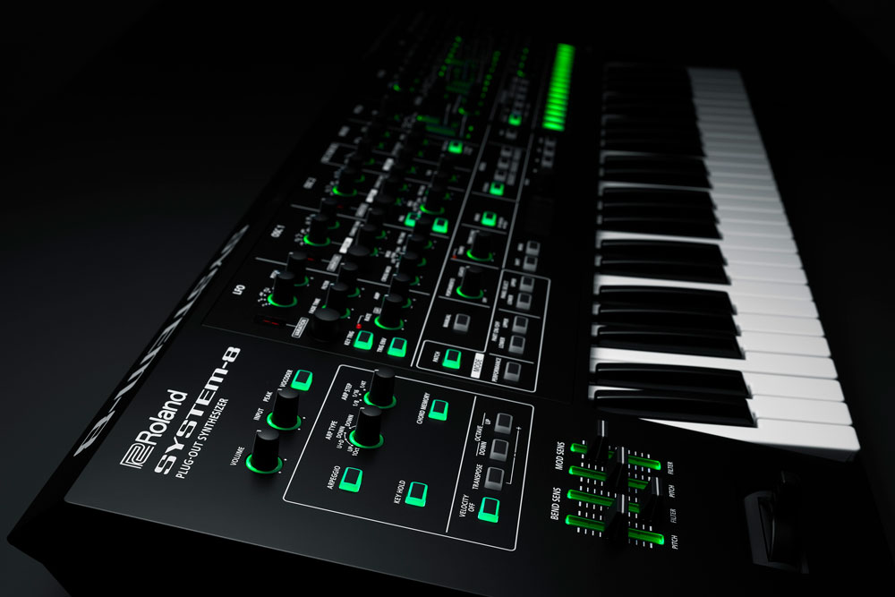 Roland System-8 Plug-Out Synthesizer.