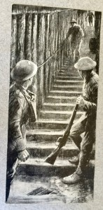 Into the Mine. From Memories of Active Service, Vol 2, facing page 314. By permission of the Surrey History Centre (Ref: 2332/3/9/3/4)