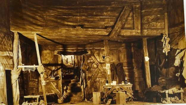 Another dugout - this time from the Broadway production of Journey's End, 1929. By permission of the Surrey History Centre (Ref: 2332/6/3/1/1)