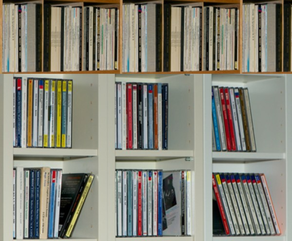 CD collection, comparing music