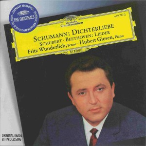 Schumann: Dichterliebe; Beethoven/Schubert: Lieder - Wunderlich, Giesen, CD cover