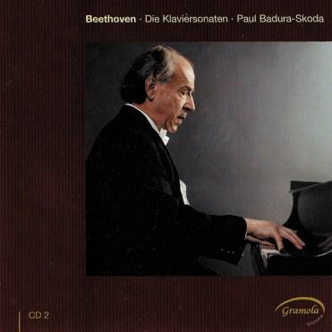 Beethoven: The Piano sonatas 2, Badura-Skoda, CD cover