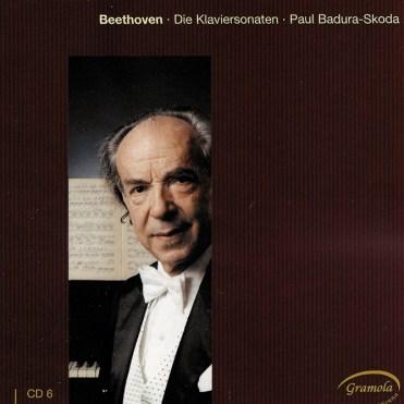 Beethoven: The Piano sonatas 6, Badura-Skoda, CD cover
