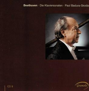 Beethoven: The Piano sonatas 9, Badura-Skoda, CD cover