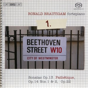 Beethoven: vol.1 - Piano sonatas opp.13, 14 & 22 — Brautigam, CD cover