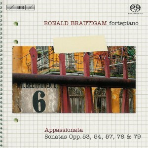 Beethoven: vol.6 - Piano sonatas opp.53, 54, 57, 78, 79 — Brautigam; CD cover
