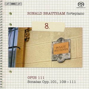 Beethoven: vol.8 - Piano sonatas opp.101, 109-111 — Brautigam; CD cover