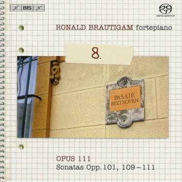 Beethoven: vol.8 - Piano sonatas opp.101, 109-111 — Brautigam; CD cover