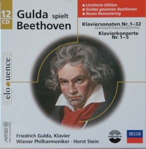 Beethoven: The Piano sonatas & concerts, Gulda, CD cover