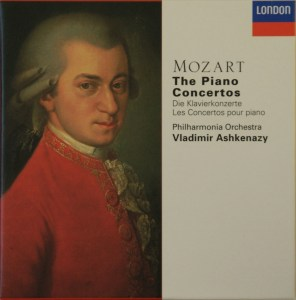 Mozart: The Piano Concertos, Ashkenazy, CD cover