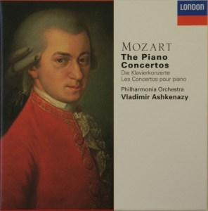 Mozart: The Piano Concertos, Ashkenazy, CD cover