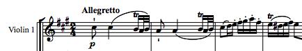 Mozart: Rondo for piano & orchestra K.386, theme