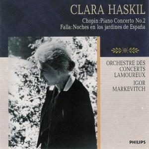 Chopin: piano concerto No.2 op.21 / Falla: Noches—Haskil / Markevich; CD cover