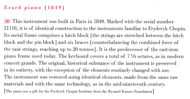 Erard #21118 (1849), description from CD booklet, © 2013, NIFC