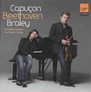Beethoven: Violin sonatas, Capuçon, Braley, CD cover