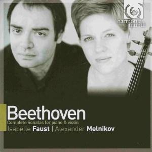 Beethoven: Violin sonatas, Faust, Melnikov, CD cover