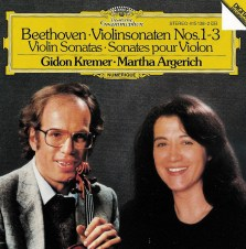 Beethoven: Violin Sonatas 1-3, Kremer/Argerich, CD cover