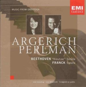 Beethoven / Franck: Violin sonatas, Perlman, Argerich, CD, cover