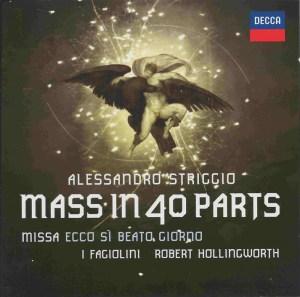 Striggio, Mass in 40 parts, Fagiolini, Hollingworth, CD cover