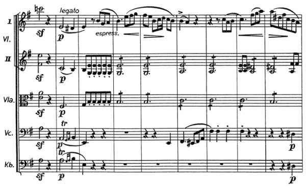 Chopin: piano concerto No.1 eminor, op.11, score sample, mvt.1, theme #2