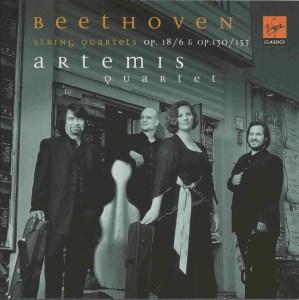 Beethoven, string quartets opp.18/6, 130 & 133, Artemis Quartet, CD cover