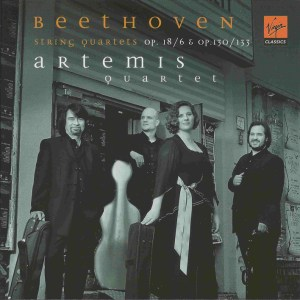 Beethoven, string quartets opp.18/6, 130 & 133, Artemis Quartet, CD cover