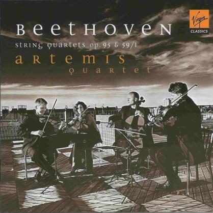 Beethoven, string quartets opp.59/1 & 95, Artemis Quartet, CD cover