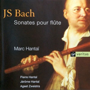 Bach: Sonatas for Flute, Hantaï, CD cover