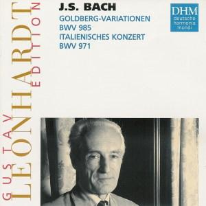 Bach: Goldberg Var., Ital.Conc., Leonhardt, CD cover