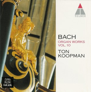 Bach: Organ Works, vol.10 — Koopman, CD cover