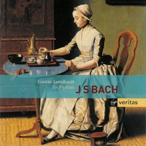 Bach: Six Partitas BWV 825-830, Leonhardt, CD cover