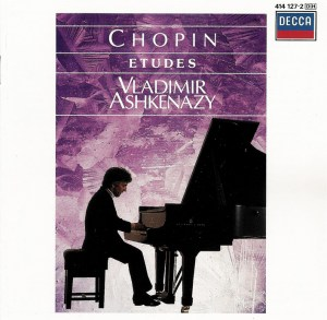 Chopin: Etudes opp. 10 & 25, Ashkenazy, CD cover