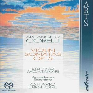 Corelli: 12 violin sonatas op.5, Montanari, Dantone, CD cover
