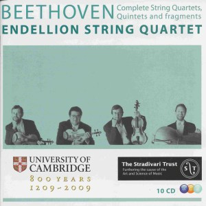 Beethoven, string quartets, Endellion String Quartet, CD cover