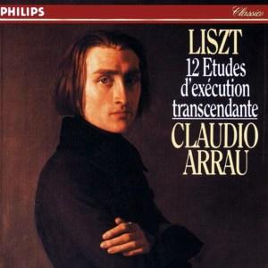 Liszt: 12 Etudes d'exécution transcendante, Arrau, CD cover