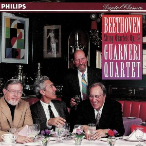 Beethoven, string quartets op.59, Guarneri String Quartet (1991), CD cover