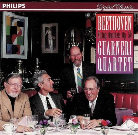 Beethoven, string quartets op.59, Guarneri String Quartet (1991), CD cover