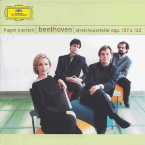 Beethoven, string quartets opp.127 & 132, Hagen Quartett, CD cover