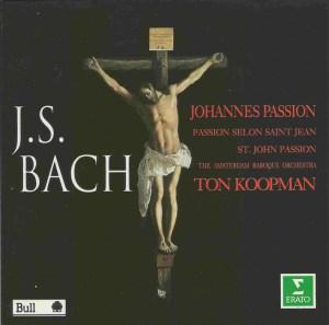 Bach, St.John Passion, Koopman, de Mey, CD cover