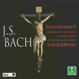 Bach, St.John Passion, Koopman, de Mey, CD cover
