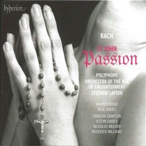 Bach, St.John Passion, Layton, Bostridge, CD cover