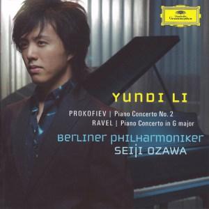 Prokofiev: Piano concerto #2; Ravel: Piano concerto in G —Li/Ozawa; CD cover